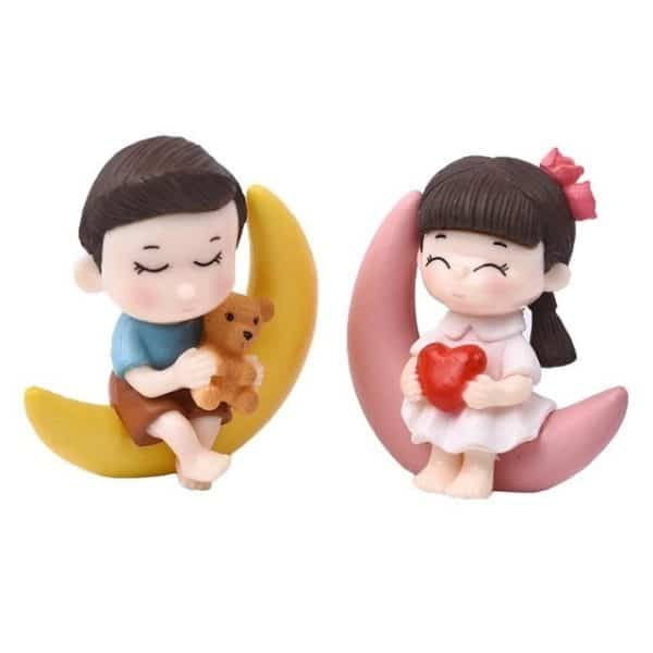 Moon Couple Decorative Ornaments