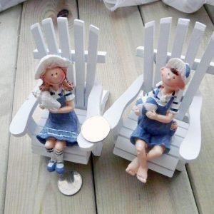 Mediterranean Lovers Doll Wooden Craft