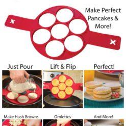 Pancaker™ Nonstick Pancake Ring in Red