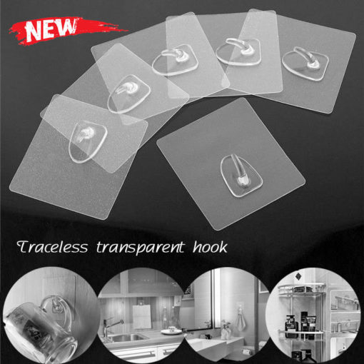Reusable Anti-Skid Traceless Hooks (10 Pcs)