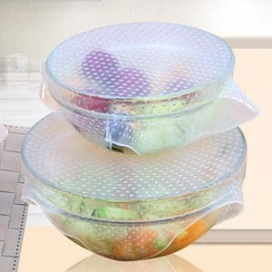 WRAPLIES™- ( 4 PCS SET ) REUSABLE SILICONE FOOD WRAPS