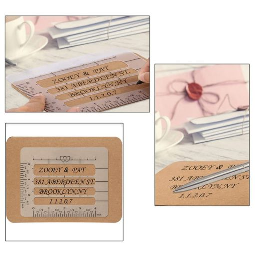 4Pc Envelope Addressing Craft Guide
