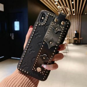 Fashion Rivet Leather Wristband Iphone Cases