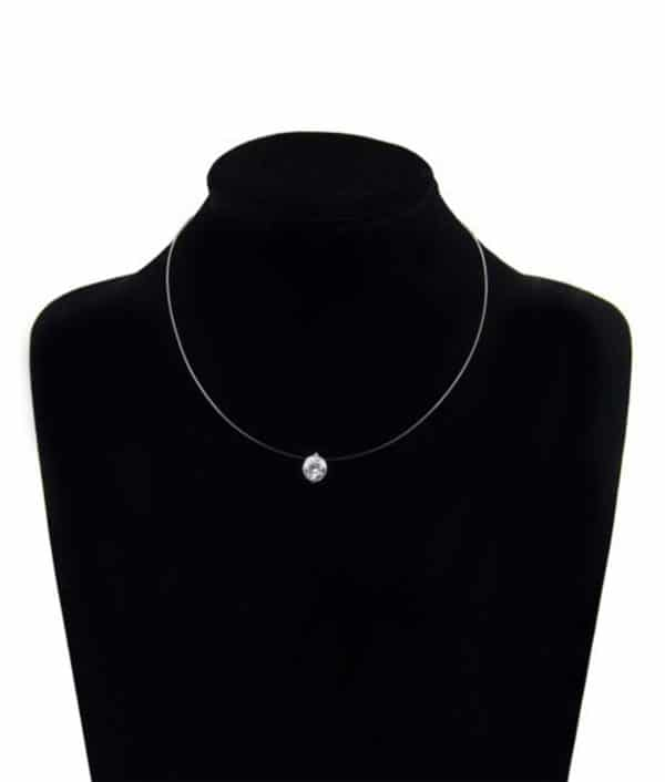 Female Invisible Chain Necklace