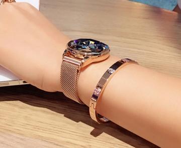 Watchlex™ Rose Noir Ladies Watch