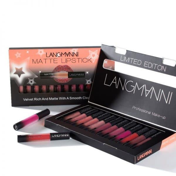 12PCS/Set Matte Long Lasting Lipstick
