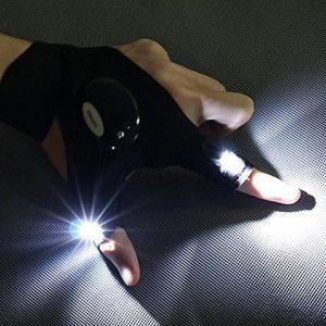 LED FLASHLIGHT FINGER GLOVES