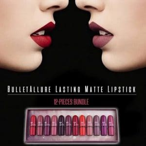 BulletAllure Lasting Matte Lipstick 12-Pieces Bundle