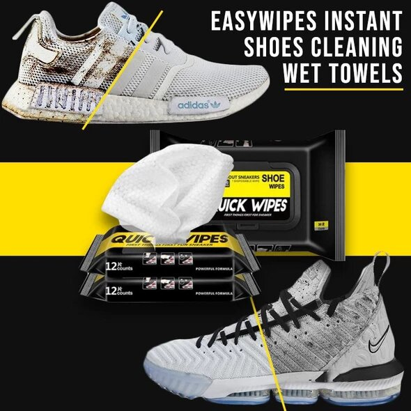 EasyWipes Instant Shoes Cleaning Wet Towels