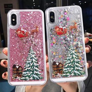 Dynamic Liquid Quicksand Christmas Phone Case