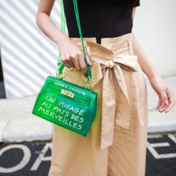 Women Jelly Purse Solid Color Handbags