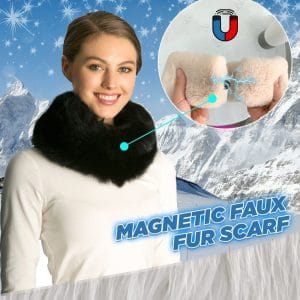 Magnetic Faux Fox Fur Scarf