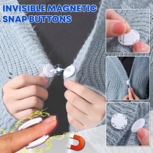 Invisible Magnetic Snap Buttons