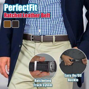 PerfectFit Ratchet Leather Belt