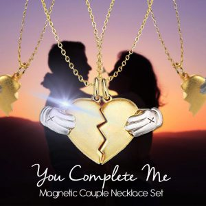YOU COMPLETE ME Magnetic Couple Necklace Set