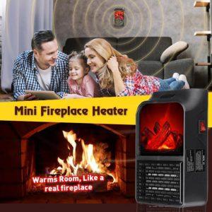 Remote Control Mini Fireplace Heater