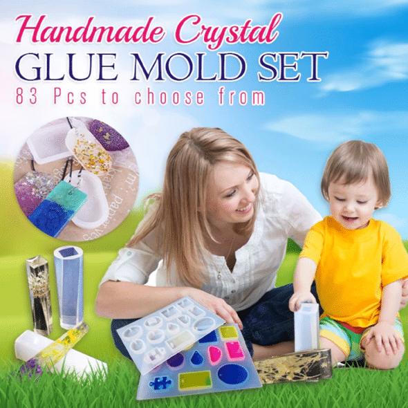 Handmade Crystal Glue Mold Set (83 pcs)