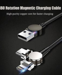 3rd Generation 180 Rotation Magnetic Charging Cable