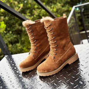 Winter Lace-up Fur Warm Snow Boots