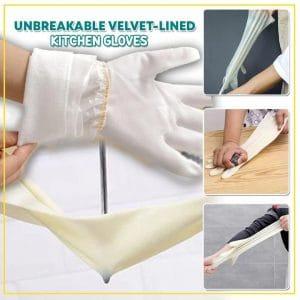 Unbreakable Velvet-lined Kitchen Gloves