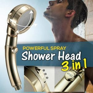 Powerful Spray Shower Head (3 In 1)