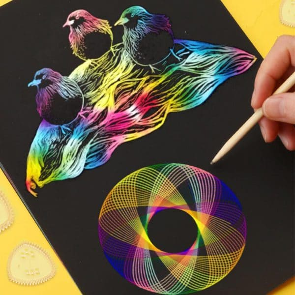 Magic Ruler Kaleidoscope Painting Set