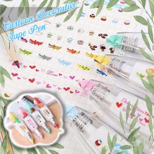 Cartoon Decorative Tape Pen