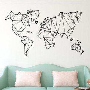 Geometric Wall World Map
