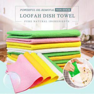 Non-stick Loofah Dish Towel