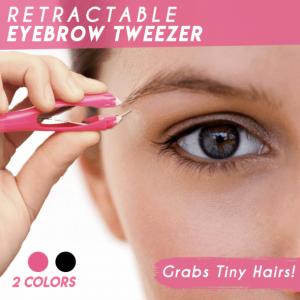 Retractable Eyebrow Tweezer