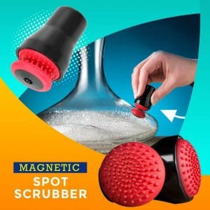 Magnetic Spot Scrubber - Easy Glassware Cleaning Helper