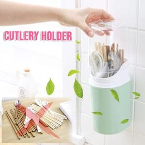 Wall-Mounted Cutlery Holder