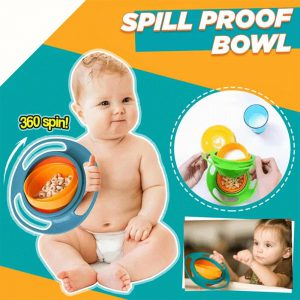 360-Degree Rotatable Spill-Proof Bowl
