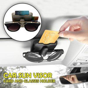 Car Sun Visor Card And Glasses Holder