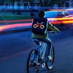 APP control LED Smile Backpack