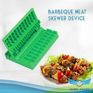 Barbeque Meat Skewer Device