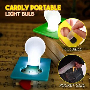 Cardly Portable Light Bulb