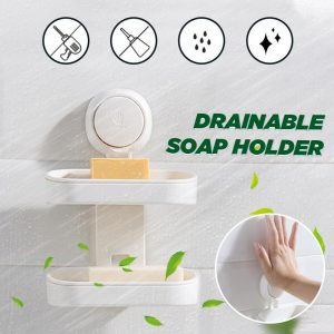 Drainable Suction Cup Soap Holder