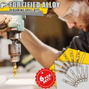 Fortified Alloy Deburring Drill Bits 6PCs Set