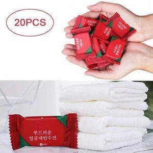 Disposable Travel Cotton Towel ( 20 Pcs )