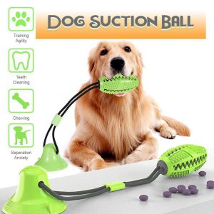 Dog Chew Suction Rubber Ball