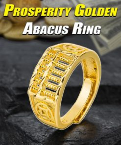 Prosperity Golden Abacus Ring