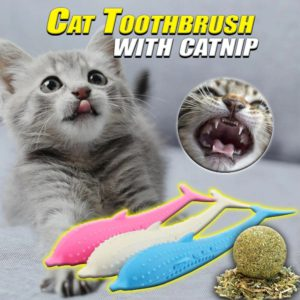 Cat Toothbrush with Catnip