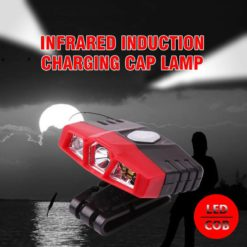 Infrared Induction Charging Cap Lamp