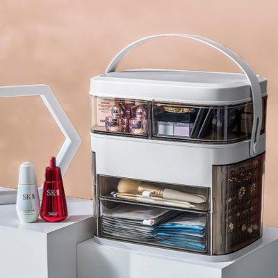 LED Light Makeup storage Box&Mirror