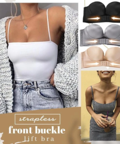 Invisible Stay Up Front Push Up Bra