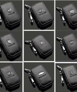 Car Key Case - Genuine Leather Car Smart Key