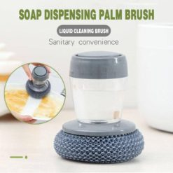 Kitchen Soap Dispensing Palm Brush Easy Use Scrubber
