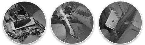 Car Seat Gap Leather Storage Box