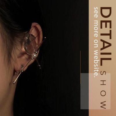 Crystal Elf Ear Bone Ear Clip
